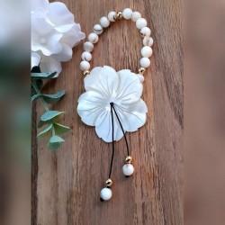 Bracelet Nacre, Grande Fleur