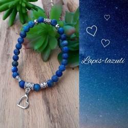 Bracelet Lapis-lazuli Coeur