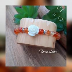 Bracelet Cornaline, Rose...