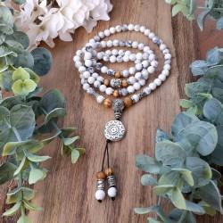 Mâlâ en Howlite 108 perles