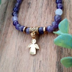 Bracelet Améthyste Ange
