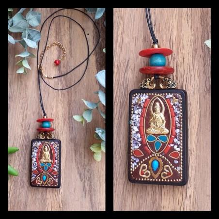 Collier Perle Indonésienne Bouddha