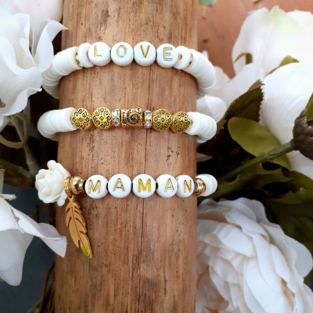 Ensemble 3 Bracelets Heishi