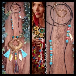Collier Ethnique Turquoise