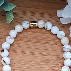 Bracelet nacre  médaillon nacre arbre de vie