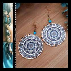 Boucles d'oreilles Turquoise Cône