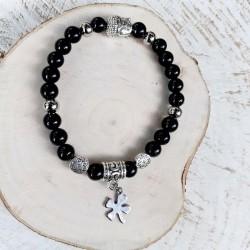 Bracelet obsidienne trèfle...