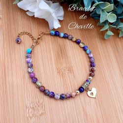 Bracelet de Cheville Jaspe Impérial