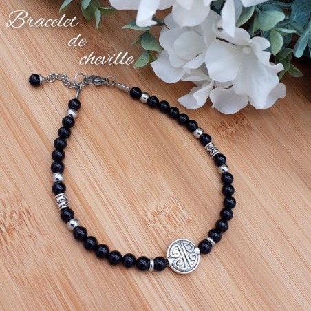 Bracelet de Cheville Obsidienne