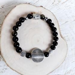 Bracelet obsidienne Spirale...