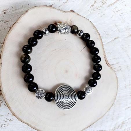 Bracelet obsidienne Spirale de vie