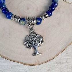 Bracelet lapis lazuli arbre de vie