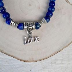 Bracelet lapis lazuli love