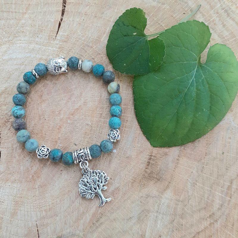 Bracelet turquoise Afriquaine breloque arbre de vie