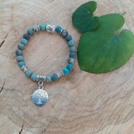 Bracelet turquoise Afriquaine médaillon arbre de vie
