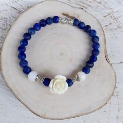 Bracelet lapis lazuli rose...