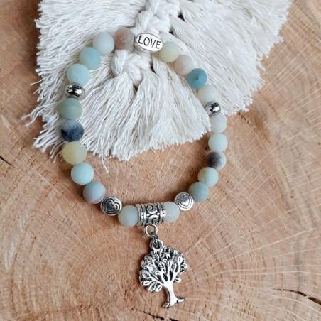 Bracelet amazonite arbre de vie