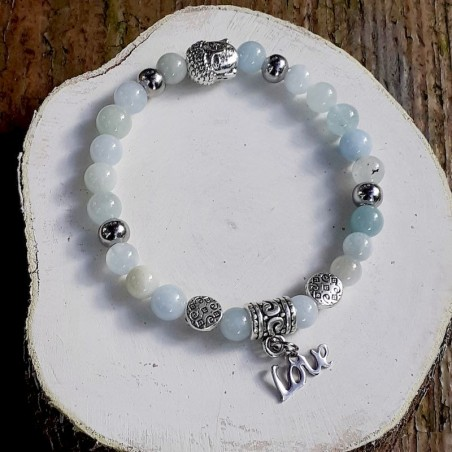 Bracelet aigue-marine love
