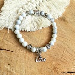 Bracelet howlite love