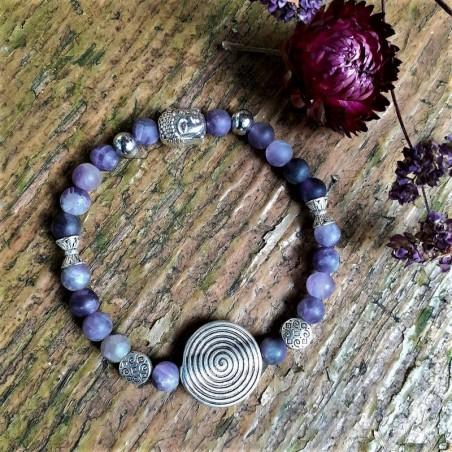 Bracelet améthyste spirale de vie