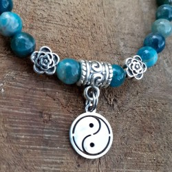 Bracelet apatite Yin & Yang