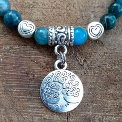 Bracelet apatite médaillon arbre de vie