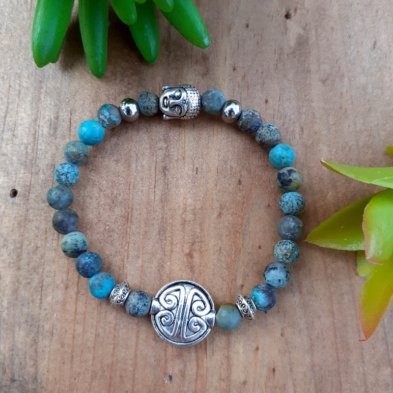 Bracelet turquoise Africaine symbole longévité