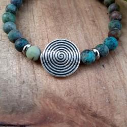Bracelet turquoise Africaine spirale