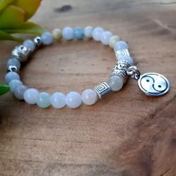 Bracelet aigue-marine Yin &...