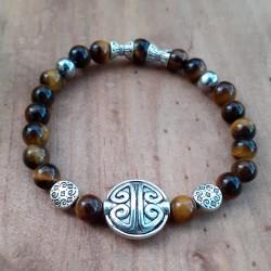 Bracelet oeil de tigre symbole de longévité