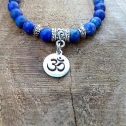 Bracelet lapis lazuli Om