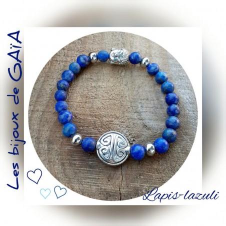 Bracelet lapis symbole longévité