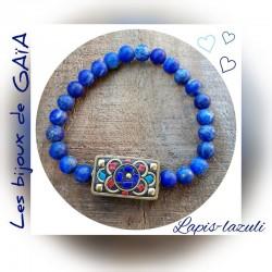 Bracelet lapis perle...