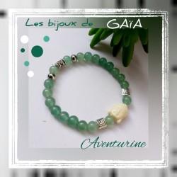 Bracelet aventurine Bouddha