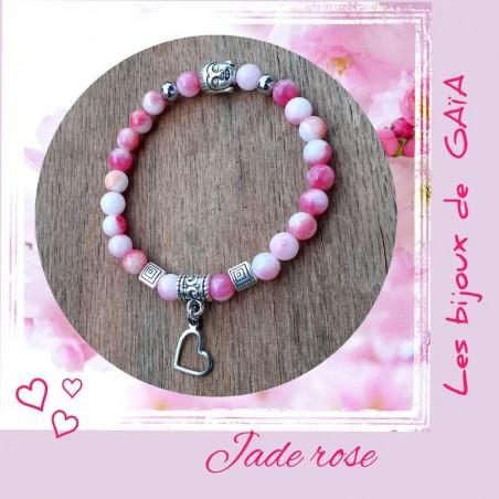 Bracelet jade coeur
