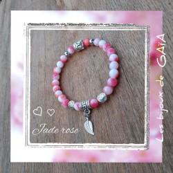 Bracelet jade plume
