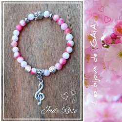 Bracelet jade clé de Sol