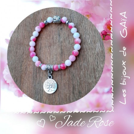 Bracelet jade médaillon arbre de vie