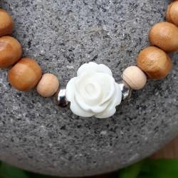 Bracelet bois rose blanche