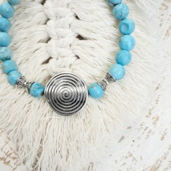Bracelet turquoise spirale