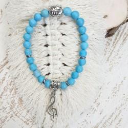 Bracelet turquoise clef de Sol