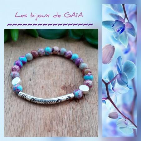 Bracelet Jaspe Impérial Perle Tube