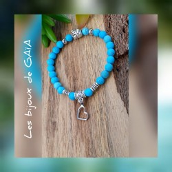 Bracelet turquoise coeur