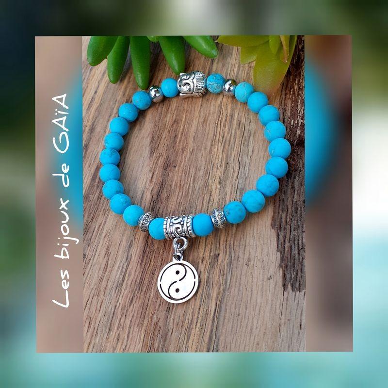 Bracelet turquoise Yin & Yang