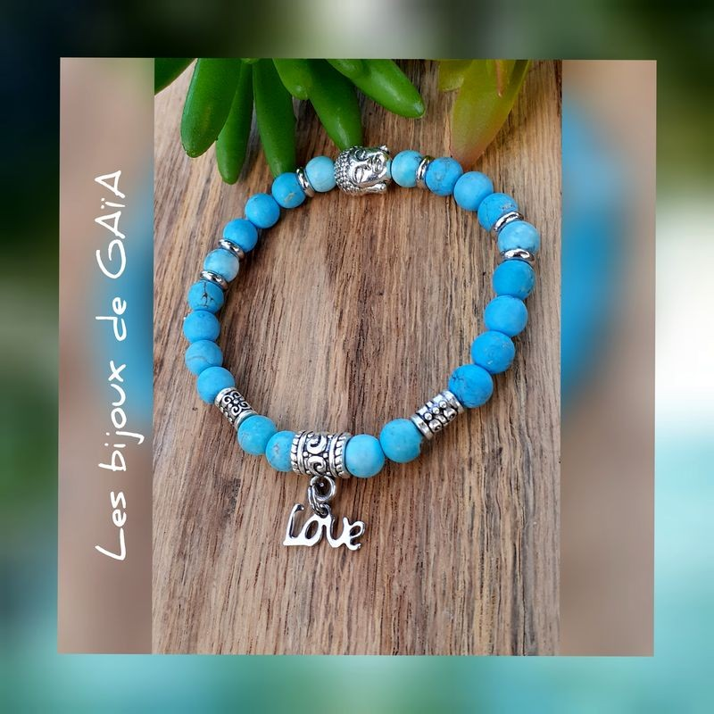 Bracelet turquoise Love