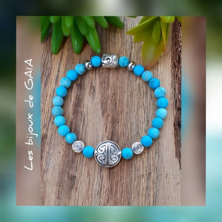 Bracelet turquoise Symbole de longévité