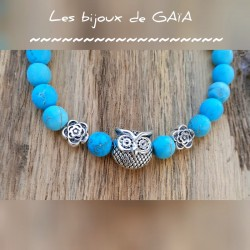 Bracelet turquoise Hibou