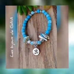 Bracelet turquoise Om