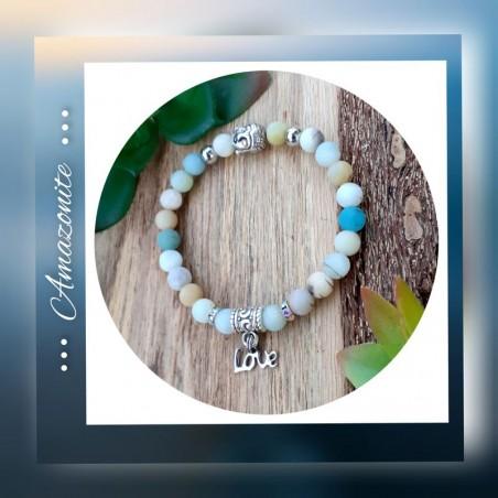 Bracelet amazonite Love