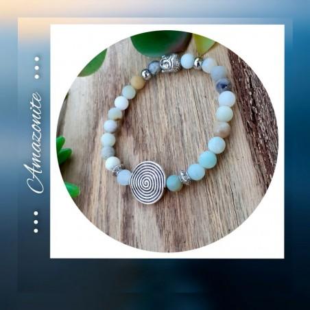 Bracelet amazonite Spirale de vie